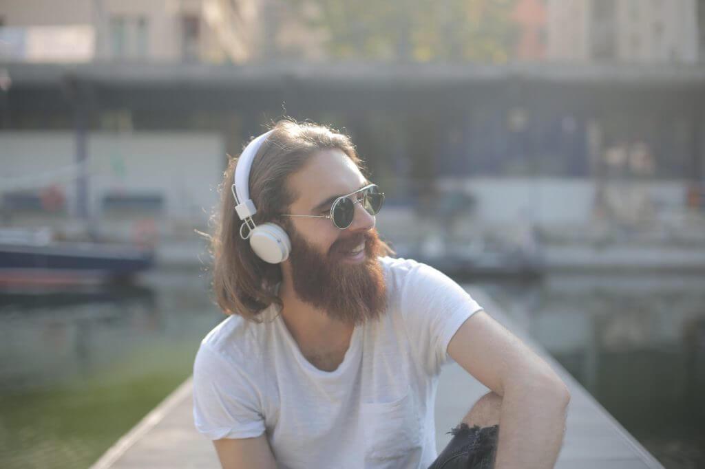 Man with Longer Hair